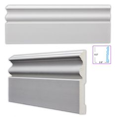 When remodeling your room baseboards add the final touch to a room. This baseboard can be coped, mitered, cut and installed just like a wood product and arrives pre-primed white and ready for paint.