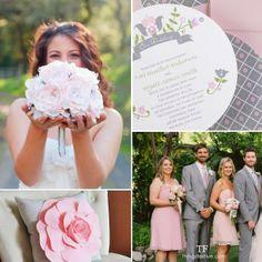 Soft Pink & Dove Gray Garden Wedding #wedding #garden #gardenwedding #pink #gray #pinkandgraywedding