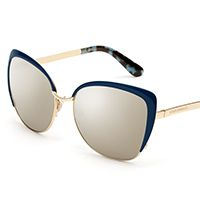 Women's mirrored sunglasses with butterfly frame by Dolce