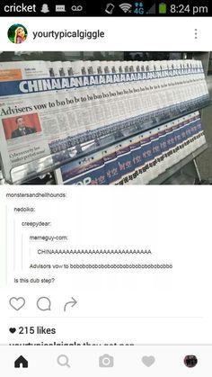 Here comes another Chinese earthquake! Brbrbrbrbrbrbrbrbr