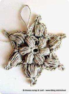 Puff Snowflake with Crochet Diagram by SAburns