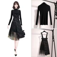 Cute Skirt Outfits, Cute Casual Outfits, Girly Outfits, Pretty Outfits, Korean Fashion Dress, Kpop Fashion Outfits, Fashion Drawing Dresses, Fashion Dresses, Dress Sketches