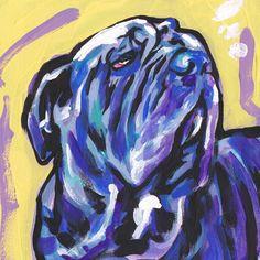 Neopolitan+Mastiff++portrait+art+print+modern+Dog+by+BentNotBroken,+$11.99