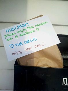 ahhh need to do this! This would make my day if I was a mailman!