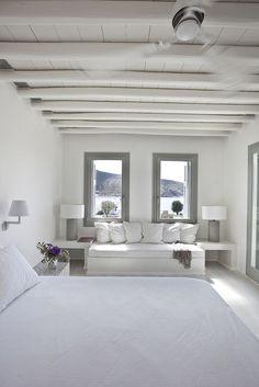 Dream holidays in Greece Island House, House Design, House, Beach House Interior, Bedroom Design, New Homes, White Houses, House Interior, Home Deco