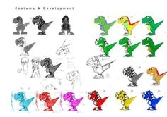 Example of animation design - design variations