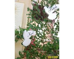 Gołąbki Z Imieniem - Dekoracja Na Pierwszą Komunię NR 03 - ARQ - DECOR | Pracowania Dekoracji ARQ DECOR