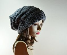 """Slouchy knit hat for Fall """"I absolutely love the slouchy hats! I will be wearing them this fall."""" -Franki"""