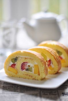 fruit rolled cake