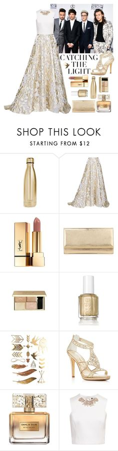 """""""American Music Awards with One Direction"""" by rocklikeachampion ❤ liked on Polyvore featuring S'well, Lela Rose, Yves Saint Laurent, Jimmy Choo, Essie, Caparros, Givenchy, Ted Baker and 39"""