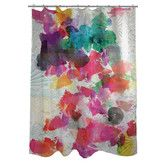 Perfect for your guest bathroom or master suite, this printed shower curtain showcases a medallion motif and multicolor palette. Diy Gifts For Dad, Diy Gifts For Friends, Teenager Stocking Stuffers, Pretty Shower Curtains, Dark Grey Walls, Contemporary Shower, Watercolor Water, Oliver Gal, Diy Home Decor