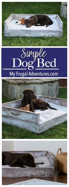 Simple DIY Dog Bed.  Customize in any size or color you like. #SimpleWoodProjectsDiy
