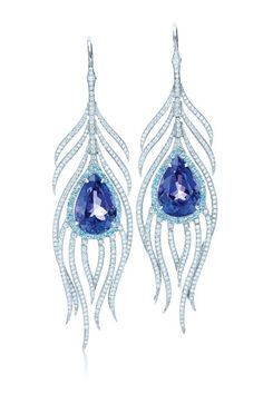 Tanzanite set in platinum earrings, Tiffany & Co. http://www.vogue.in/content/jewellery-report-2012-peacock#2