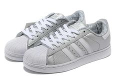 buy online bcbc6 45c3f (FRUpo) Adidas Superstar 2 Leather Chaussure Running Pour Femme Argent Blanc