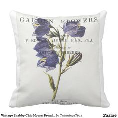 Vintage Shabby Chic Home: Broad Bell-Flower Pillow