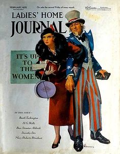Ladies Home Journal Woman w Uncle Sam February 1932