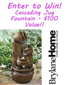 {Giveaway} Win a Cascading Jug Tabletop Fountain with LED Lights! $100 Value!