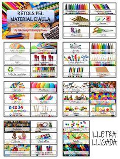 Idees Magistrals: Rètols pel material d'aula