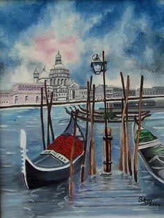 Ritratto a Venezia - Olio su tela - cm. 30 x 40 - Anno: 2004