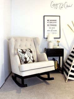 black + white nursery // Copy Cat Chic