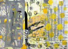 """Saatchi Online Artist Marina Dewit; Painting, """"yellow forms"""" #art #abstractpaintings #marinadewit"""