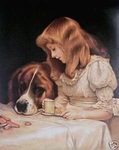 Charles Burton Barber-- We had this in a large print framed in our house when I was growing up.