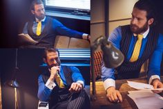 Get an inspiration for a new bespoke threads. Actor Craig McGinlay wearing Dress2Kill bespoke suit for new winter collection.