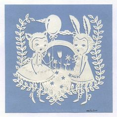 Happy World Papercutting by Some Artist, via Flickr