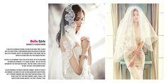 Magazine style photo album spread