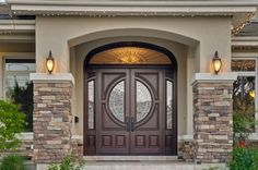 Another idea for a dream front door.  The double doors are so inviting.