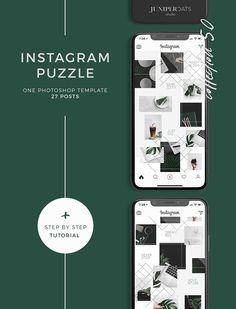 Instagram Puzzle Template 5.0 by JuniperOats Studio on @creativemarket