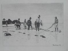 """Pescadores"" lápis sobre papel"