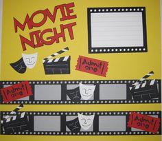 Movie Night Scrapbooking Put movie ticket stubs inside each film strip! Scrapbook Examples, Scrapbook Borders, Disney Scrapbook Pages, Scrapbook Sketches, Scrapbooking Layouts, Scrapbook Cards, Ticket Stubs, Border Templates, Movie Themes