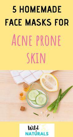 5 Homemade Face Masks for Acne-Prone Skin DIY