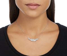 This rhodium-plated Swarovski necklace is beautifully embellished with shimmering clear crystals in different sizes. The size can easily be adjusted.... Shop now