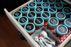 Raising up Rubies: chalkboard spice jars ... ♥