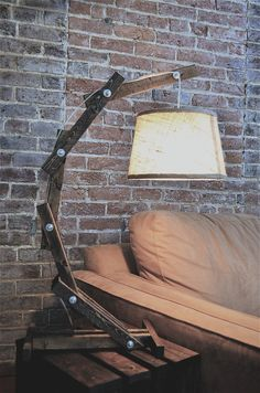 Rustic Wooden Table Lamp by AWalkThroughTheWoods on etsy, cool design!