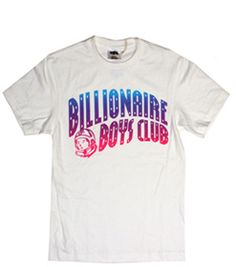 BILLIONAIRE BOYS CLUB Sunset Arch tee in White B0012T120, Free Shipping at CelebrityModa.com