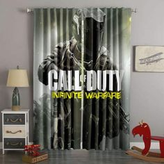 Printed Call Of Duty Infinite Warfare Style Custom Living Room Curt – Westbedding