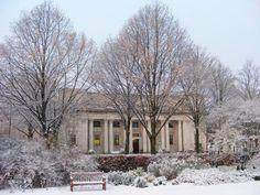 Glamorgan Building in the snow