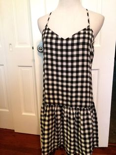 NWT Vera Wang Princess Black White SunDress Size Medium Retail $58 | eBay