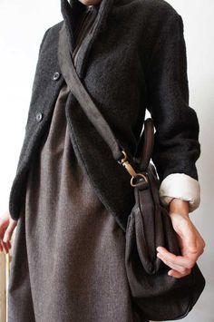 l'ecume des jours (klasica shrunk herringbone jacket)