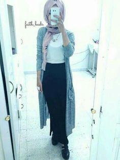 hijab, skirt, and style image