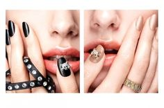 Nails Inc Leather Effect 'Bling It On Leather & Skulls' Nail Polish Collection