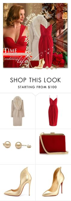 """""""Revenge in Red"""" by petri5 ❤ liked on Polyvore featuring Warehouse, Zimmermann, Balmain and Christian Louboutin"""