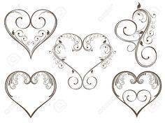 heart designs to color - Google Search