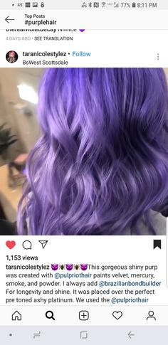 Purple Ombre, Purple Hair, Velvet, Smoke, Lilac Hair, Smoking, Acting, Violet Hair