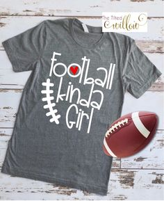 2098f5c0b Excited to share this item from my #etsy shop: Football Kinda Girl Shirt -