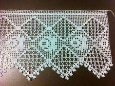 Me gusta crochet Crochet Boarders, Crochet Lace Edging, Crochet Mandala, Crochet Squares, Love Crochet, Crochet Flowers, Hand Crochet, Knit Crochet, Filet Crochet