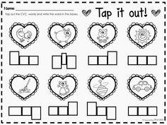 Valentines Day CVC Word Work